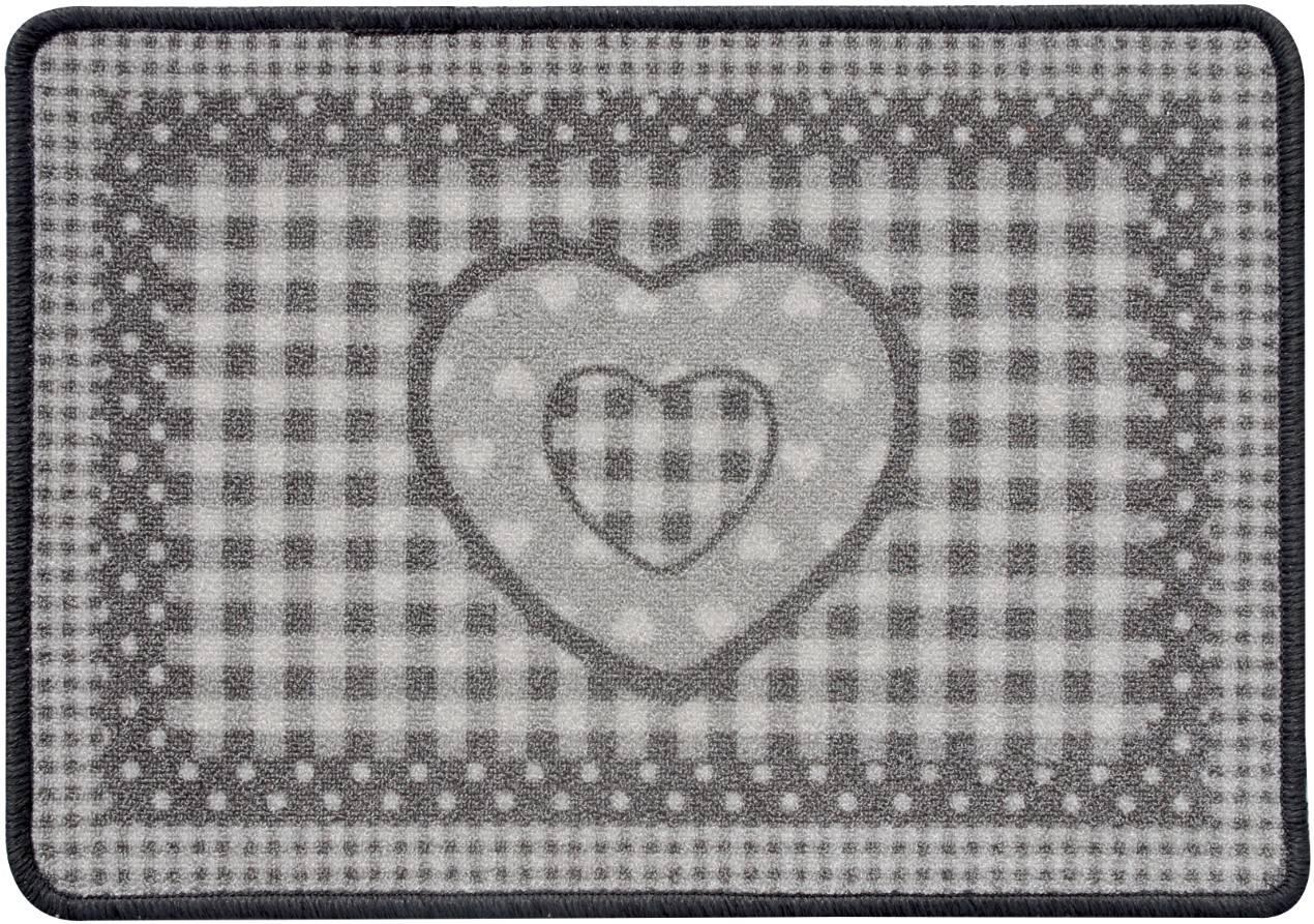 alfombra cocina gris corazn vintage - Alfombras Vintage