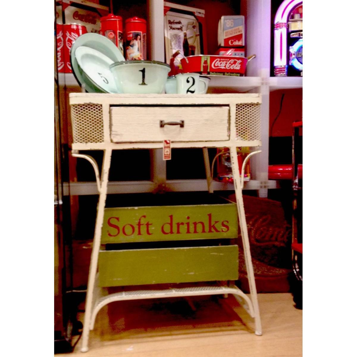Muebles Baño Blanco Roto:Home Mueble > Mueble Auxiliar > Mesa auxiliar vintage blanco roto