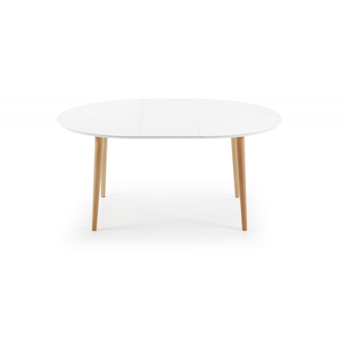 Mesa extensible madera lacada blanca scandy for Limpiar madera lacada