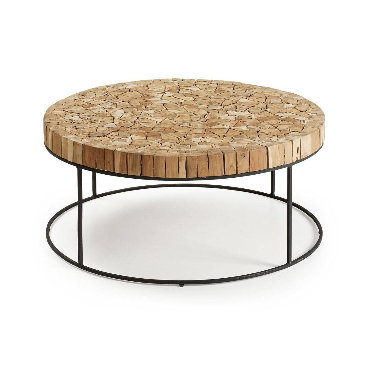 Mesa redonda troncos natural - Mesas de troncos de madera ...
