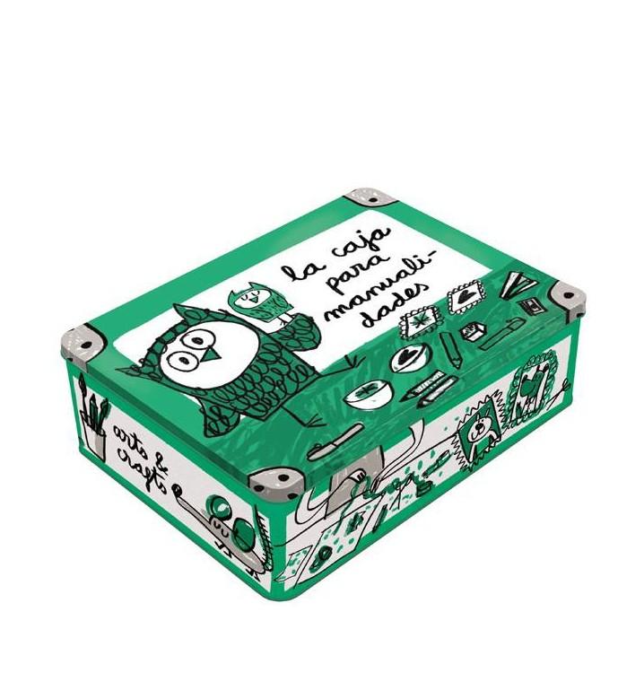 Caja metal para las manualidades anna llenas - Manualidades pintar caja metal ...