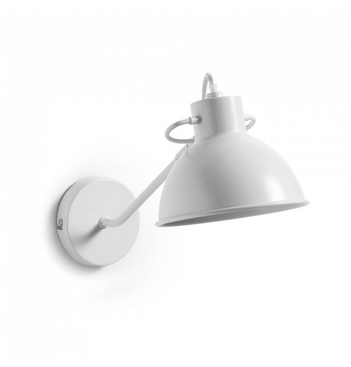 Lámpara Aplique Metal Blanco con Brazo Estilo Industrial