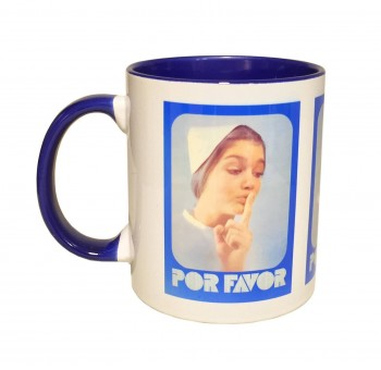 Taza Hospital Silencio Por favor retro