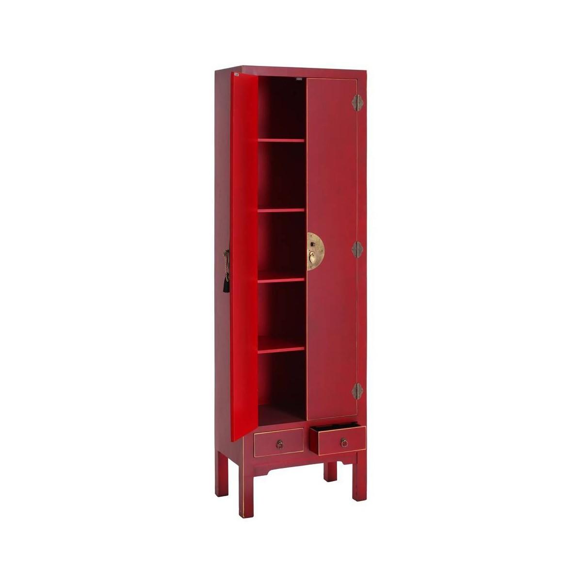 Armario japo rojo 2 puertas 2 cajones madera colores del mundo - Mundo armario ...