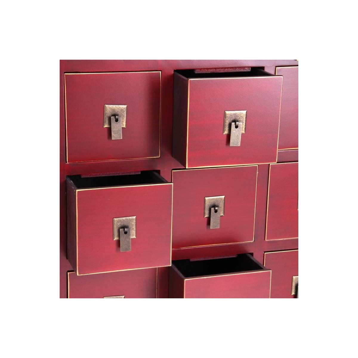 Mueble auxiliar japo rojo 15 cajones madera colores del mundo for Mundo mueble aguilas