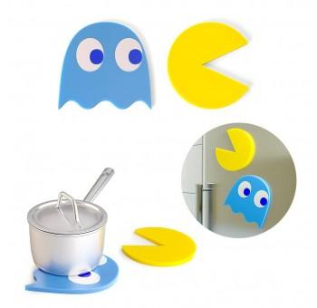 Set 2 salvamanteles Pacman comecocos y fantasma