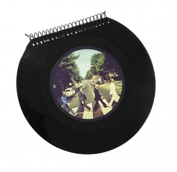 Libreta cuaderno Disco vinilo Single The Beatles Abbey