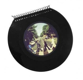 Libreta cuaderno Disco vinilo Single The Beatles Abbey