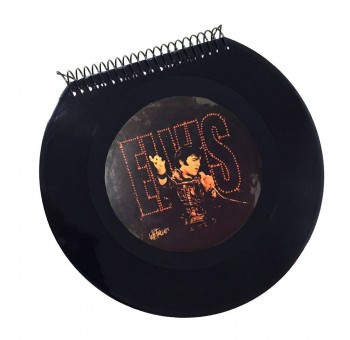 Libreta cuaderno Disco vinilo Single Elvis