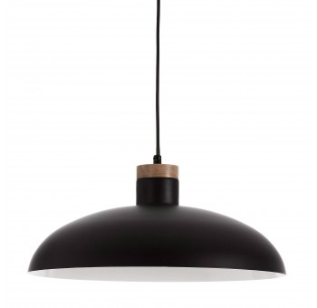 Lámpara techo Sixten metal negro madera natural nórdico