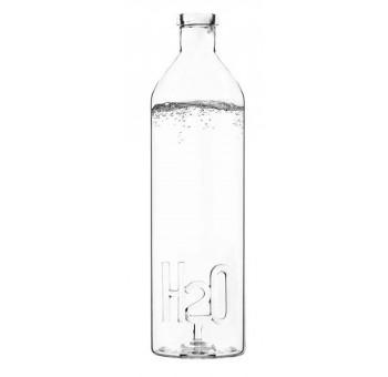 Botella agua cristal H2O