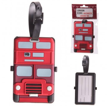 Etiqueta maleta nombre Bus Londres