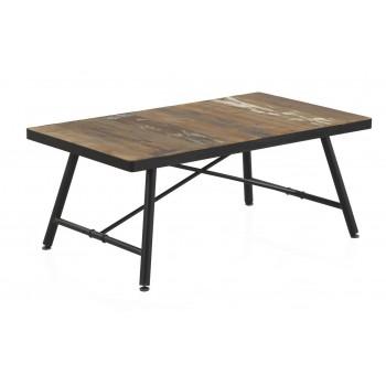 Mesa de centro Screw madera y metal negro industrial
