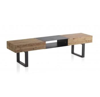 Mesa Televisión madera Thick abeto y metal