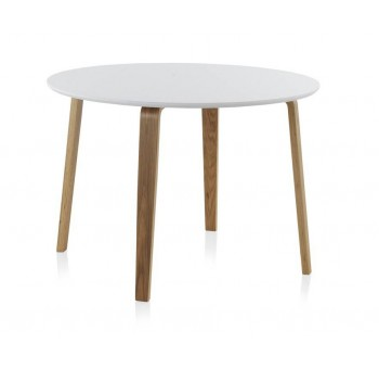 Mesa redonda comedor madera haya Finland modelo 1 blanca