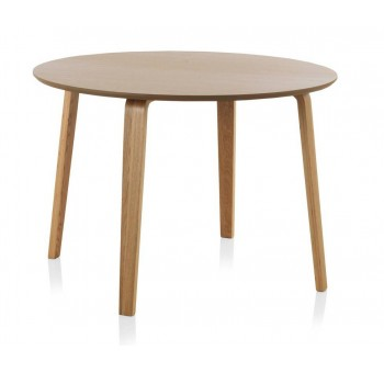 Mesa redonda comedor madera roble Finland modelo 3