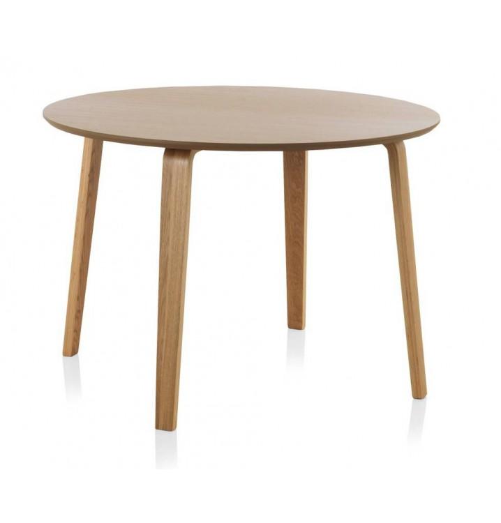 mesa redonda comedor madera roble finland modelo 3 - Mesa Redonda Comedor