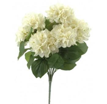 Ramo hortensias beige 7 flores artificial