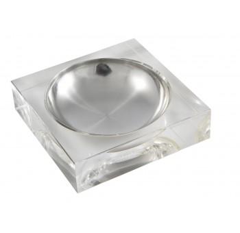 Cenicero cristal de luxe cuadrado