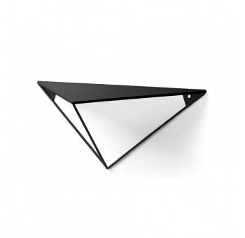Estantería de pared Mirari triángulo 1 balda metal negro casual