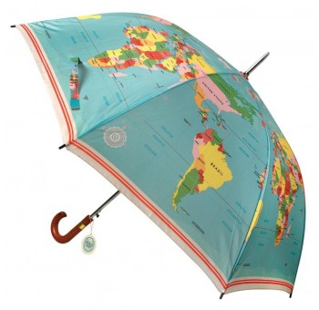 Paraguas Mapa Mundo vintage retro unisex