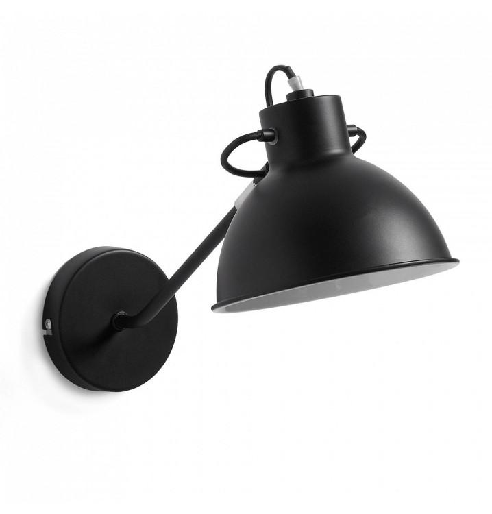 Lámpara Aplique Metal Negro con Brazo Estilo Industrial