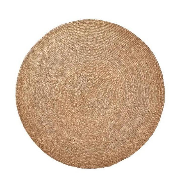 Alfombra redonda natural 150x150 en yute color Colección Colores del Mundo