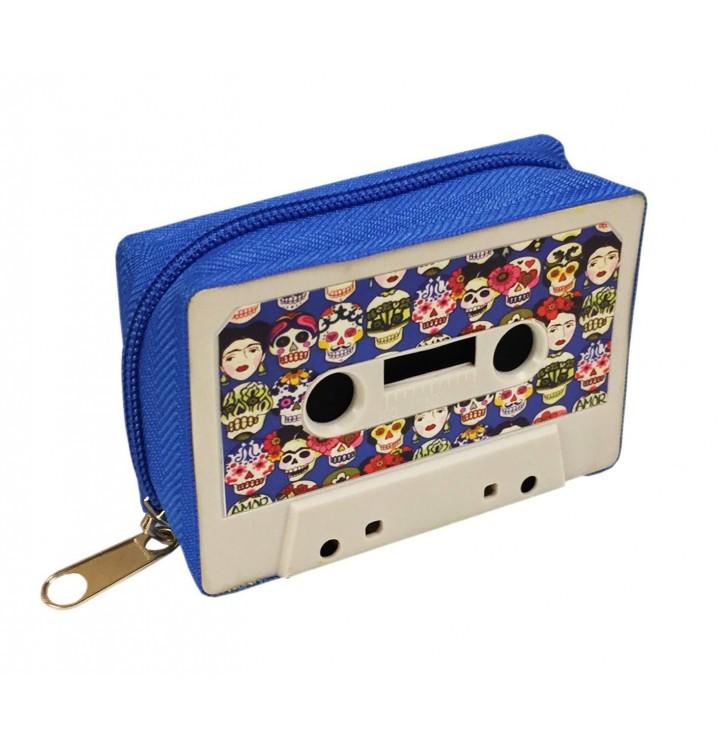 Monedero Cassette retro Calaveras