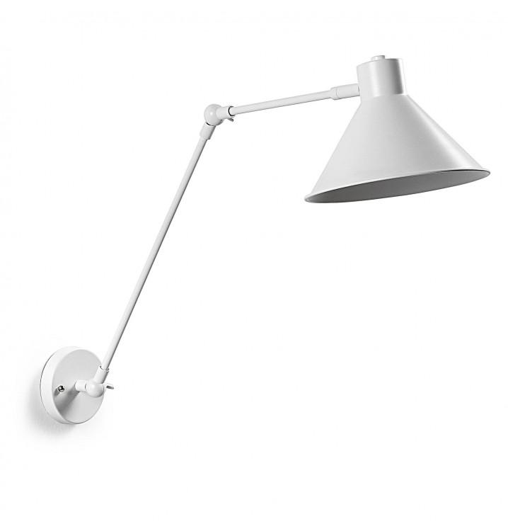 Lámpara aplique Oddine metal blanco casual