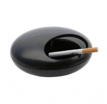 Cenicero retro giratorio anti humo negro