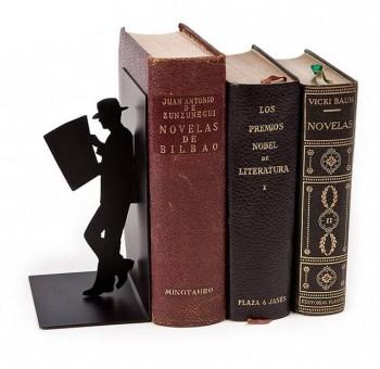 Sujeta libros El lector metal