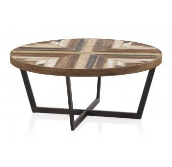 Mesa de centro Hammer madera y metal negro industrial