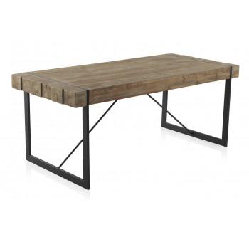 Mesa comedor madera Plank abeto y metal