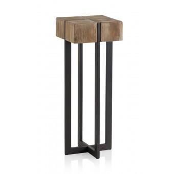 Mesa auxiliar alta madera Thick abeto y metal