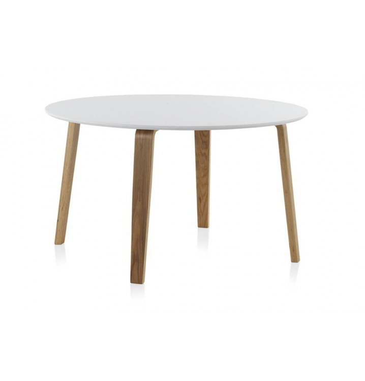 redonda comedor madera haya Finland modelo 1 blanca