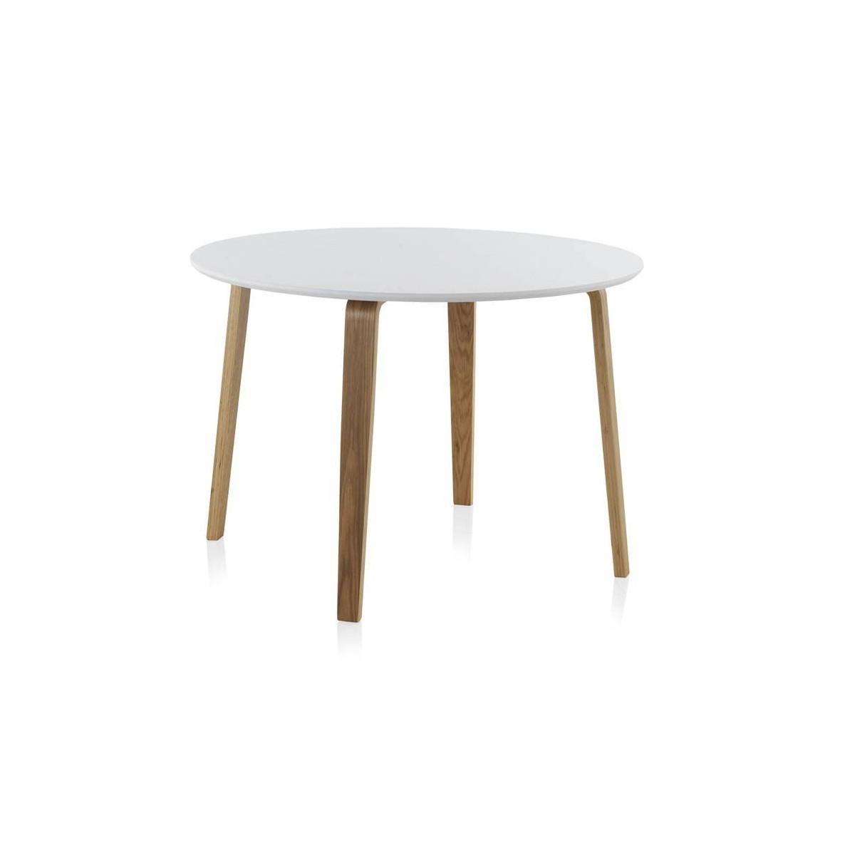 Mesa redonda comedor madera haya finland modelo 1 blanca for Mesa comedor haya