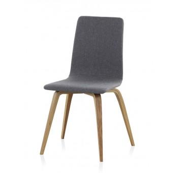 Set 4 sillas madera haya Finland modelo 1 tapizado gris
