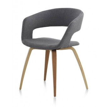 Silla madera haya Finland modelo 2 tapizado gris