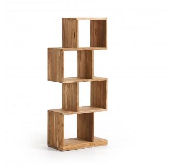 Estantería Ferslev 4 cuadrados madera teca natural casual nórdico