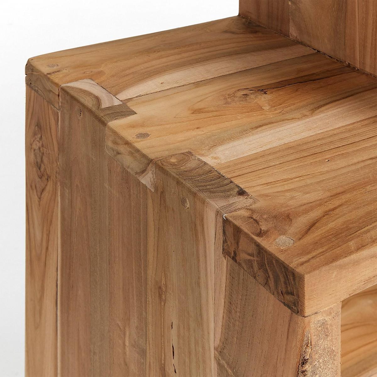 Ferslev 4 cuadrados madera teca natural casual nórdico