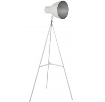 Lámpara de pie metal trípode blanca foco regulable