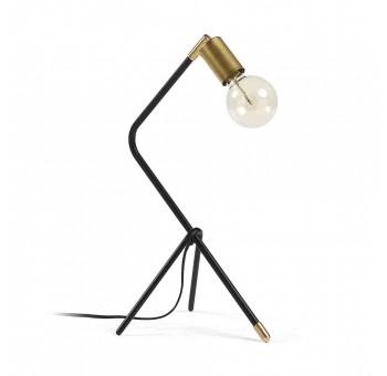 Lámpara sobremesa Noorita A44 metal negro latón auténtico nórdico