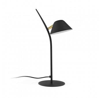 Lámpara sobremesa Albina metal negro dorado casual